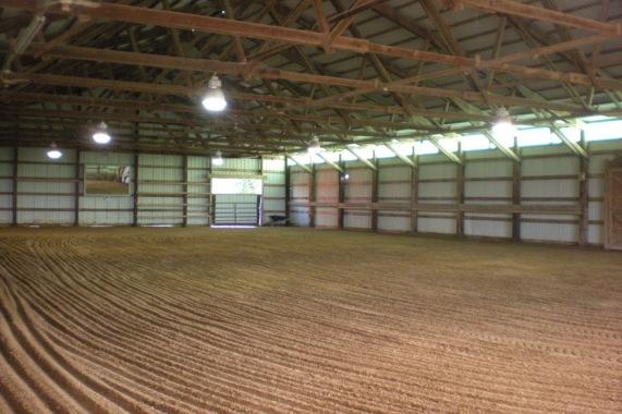 The indoor arena is 80'x135.