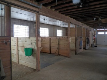 Interior view of the Red Barn.